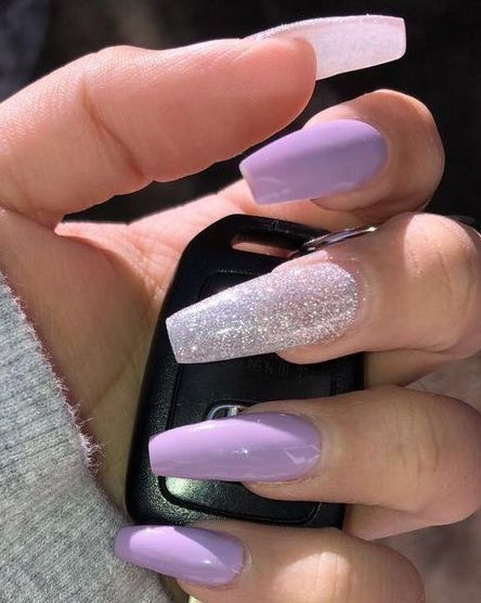 Simple Nail Styles Are Popular At Holiday Parties Page 21 Of 51 Sciliy Purple Acrylic Nails Solid Color Nails Simple Nails