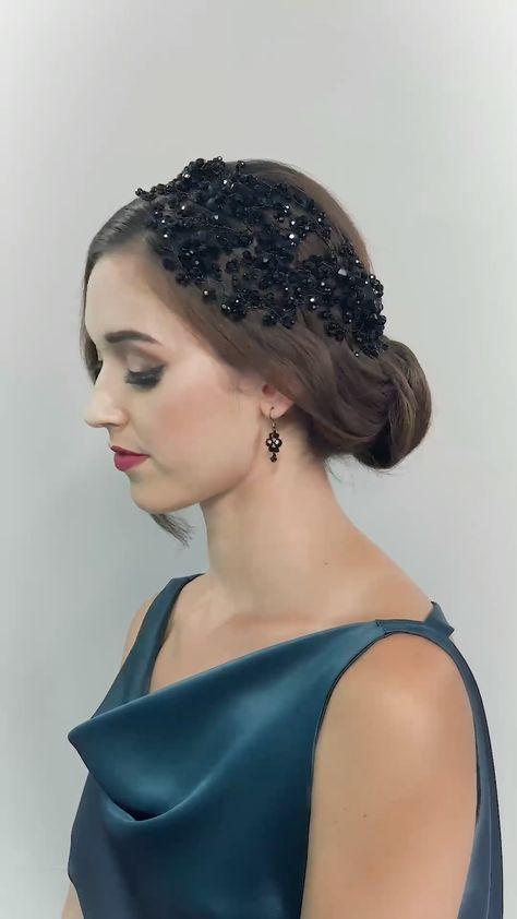 DAHLIA HEADDRESS - hair accessories, hair fashion, hairstyle, wedding hair, crystal eveningwear