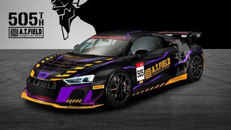 Meet Jammy Co Ltd S Evangelion A T Field Audi R8 Lms Gt4 Race Car Shouts In 2020 Audi R8 Audi Race Cars