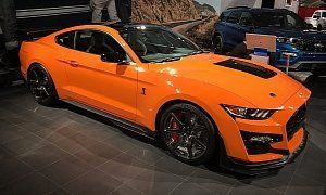 Orange 2015 Mustang With Matte Black Stripes The Graffiti