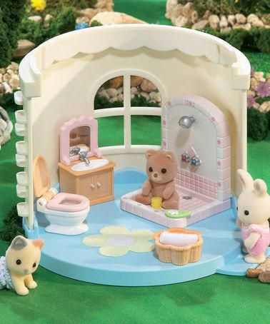 Calico Critters Laundry Vacuum Cleaner In 2020 Calico Critters Families Baby Bathroom Sylvanian Families