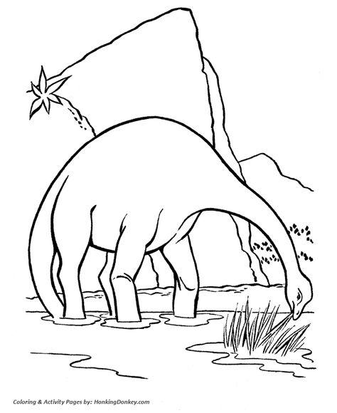 Brontosaurus Or Apatosaurus Dinosaur Coloring Page Dinosaur