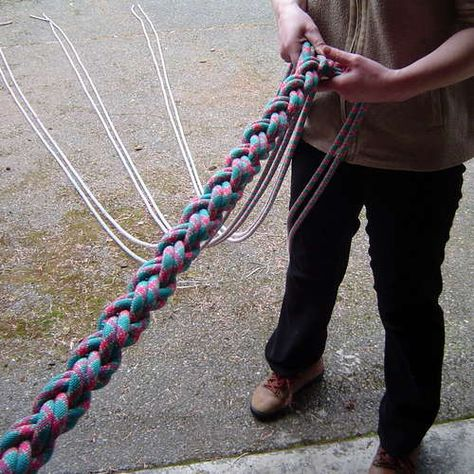 braided climbing rope - this could go on the other side of the tree from our swing.