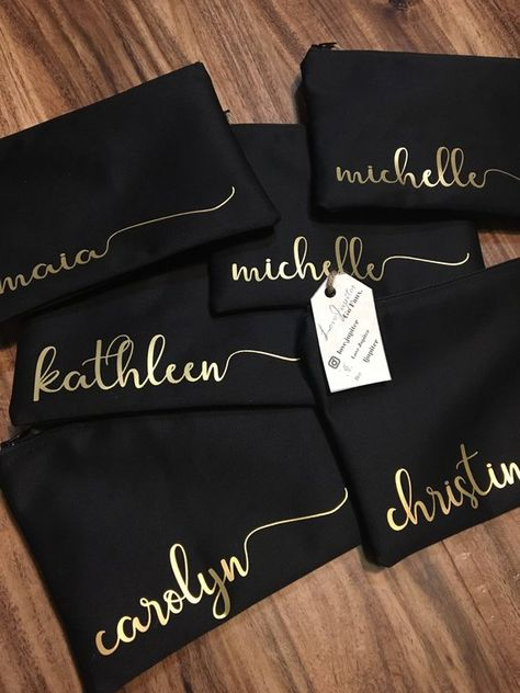 Custom Name Makeup Bag / Cosmetic Bag / Toiletry Bag / Monogram / Bridesmaid / Gift / Valentines / Proposal Written Inside / Girl Present