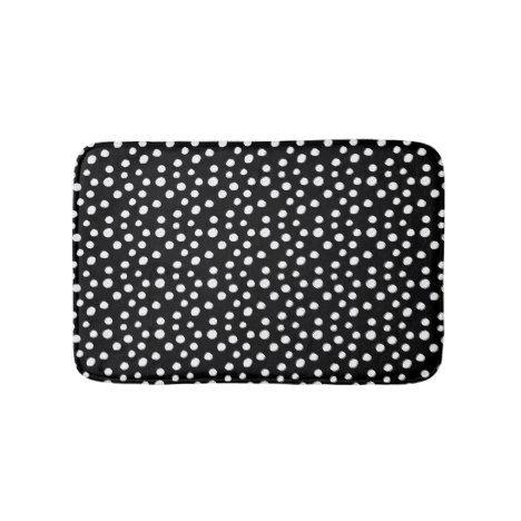 Abstract Modern Black Amp White Paint Dots Bath Mat Bath