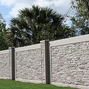 Residential Large Scale Residential Concrete Fencing Options Aftec Llc Fence Wall Design Exterior Wall Design House Fence Design