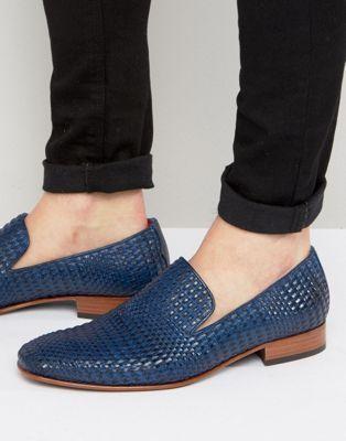 1c694dde386c6 Jeffery West – Yung – Elegante Leder-Loafer mit geflochtenem Design ...