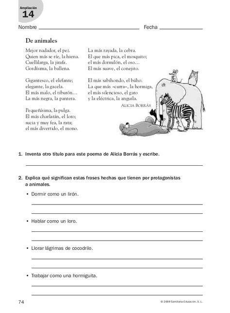 Lengua Repaso Y Ampliación 3º Primaria Santillana Lectura De Comprensión Actividades De Comprensión De Lectura Comprension Lectora Para Secundaria