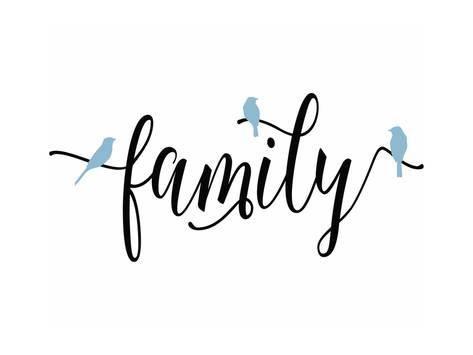 Art Print: Family Blue Birds by Tara Moss : 24x18in
