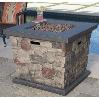 17 Stories Wayland Stone Propane Fire Pit Table Wayfair In 2020 Propane Fire Pit Table Fire Pit Table Propane Fire Pit