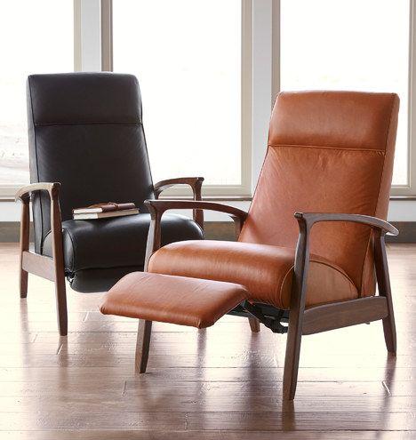 Glenn Walnut Leather Recliner Chair Rejuvenation Recliner Chair Leather Recliner Leather Recliner Chair