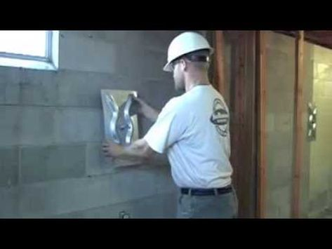 Fixing Bowed Walls Foundation Repair Mn Jesse Trebil Systems Inc Safebats Safebase Wall Anchor System Is Used To Correct
