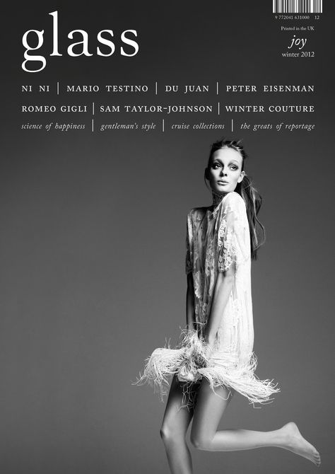 Nimue Smit on the cover of Glass Magazine