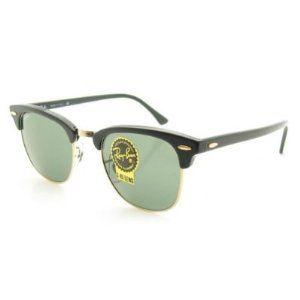 14df5b57028 Ray-Ban RB 3016 Clubmaster (W0365) Ebony Arista with Grey Green (G15) Lens  49-21-140 sunglasses (Eyewear)