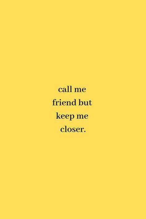 """Call me friend, but keep me closer.""—Billie Eilish,When the Party's Over #billieeilish #quotes #lyrics #songlyrics #sadquotes #music #lyricquotes Follow us on Pinterest: www.pinterest.com/yourtango"