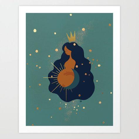 Mother and Sun Art Print