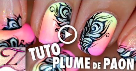 Tuto Nail Art Plume De Paon Holographique Nails Nail Art Plume