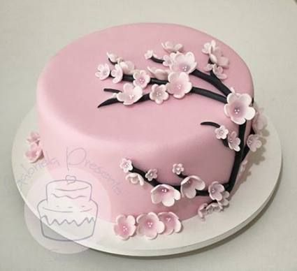 Best Cake Flower Decorating Cherry Blossoms 41 Ideas Cherry Blossom Cake Cake Savoury Cake