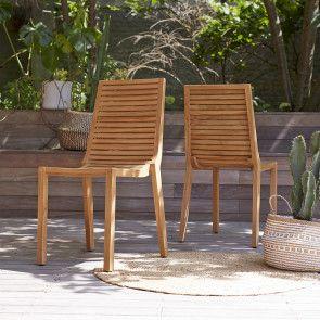 Chaise De Jardin En Teck Teo Outdoor Chairs