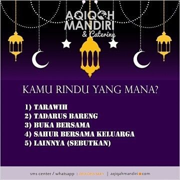 Hm Sudah Masuk Bulan Ramadhan Nih Hayoo Rindu Yang Mana