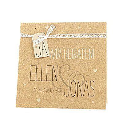 Vintage Einladungskarten Judy Für Die Hochzeit 3 Stück