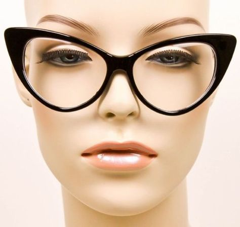 580354af5e Big Cat Eye Rockabilly PinUp Hot Secretary Nikita Large EyeGlasses Frames  1377 L