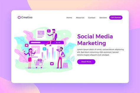 Social Media Marketing Team Landing