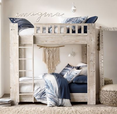 Callum Bunk Bed With Images Painted Bunk Beds Restoration Hardware Bedroom Navy Room Decor