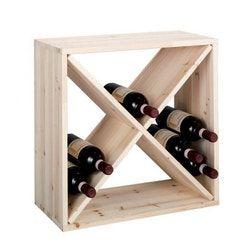 Casier A Bouteilles De Vin Cube Croix Bois Pin Zeller Bois Clair Zeller Present La Redoute Weinregal Ideen Weinregal Selbstgemachtes Weinregal