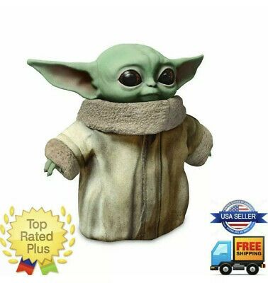 Unpainted Baby Yoda Star Wars figure Black Series scaled model The Mandalorian
