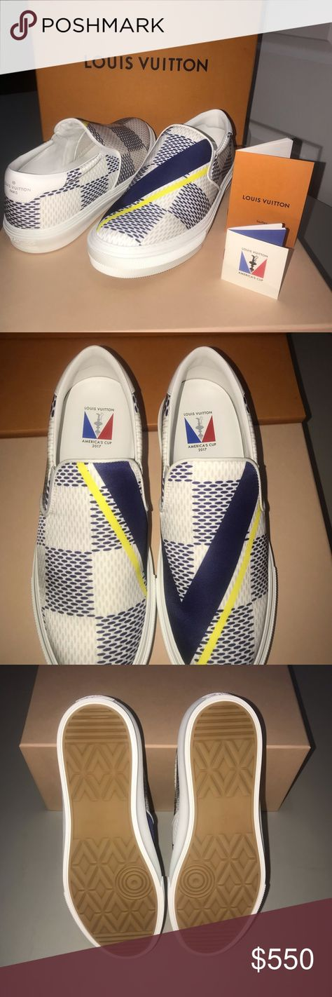 822e50c6dc2d Louis Vuitton America s Cup Slip On Sneakers Brand New - Never Worn From Louis  Vuitton s America s Cup Capsule Collection Louis Vuitton Shoes Sneakers