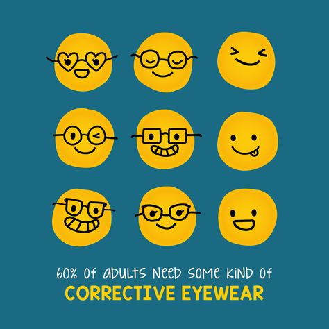 THE MAJORITY OF adults need some kind of corrective eyewear, and a recent study found that 11 million Americans have uncorrected visual impairment! We invite you to refer your family and friends to us--odds are more than one of them needs some sort of vision correction!