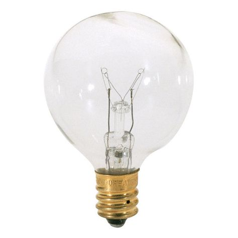 Satco S3846 25w 120v Globe G12 5 E12 Candelabra Incandescent Bulb Light Bulb Bulb Incandescent Bulbs