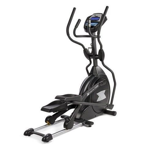 Home Elliptical Trainer Exercise Machine LCD Display Heart Rate Monitor Fitness…