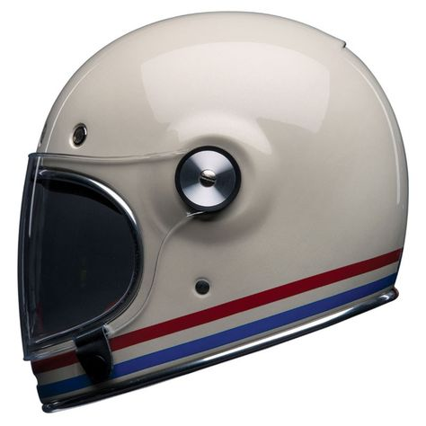 Casque Bell Bullitt Stripes Pearl White Casque Bell Casque