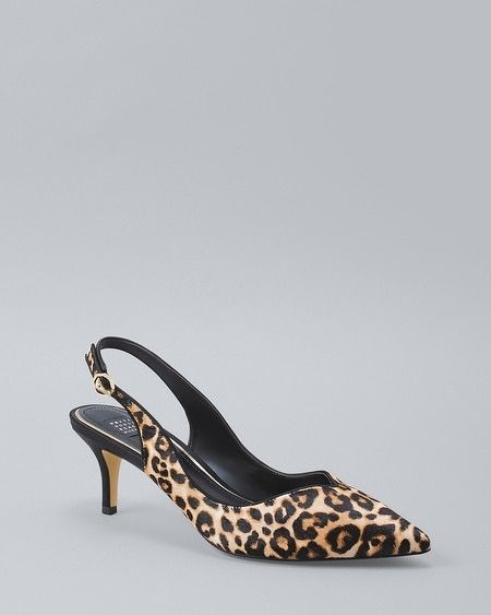 b1450a0eed1 ... with this slingback because of its all-day-comfy heel and leopard print  that makes our all-black-everything outfits pop.  ul   li Leopard calf hair  ...
