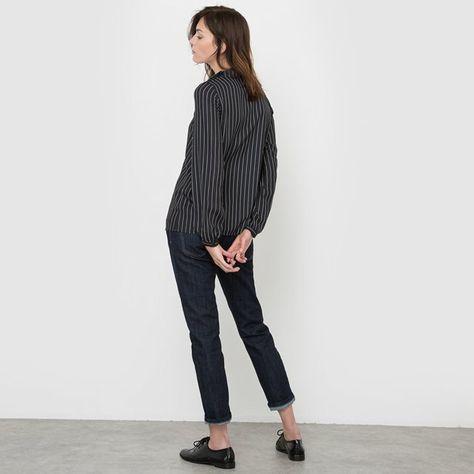 afbeelding Gestreepte blouse met opstaande kraag R essentiel