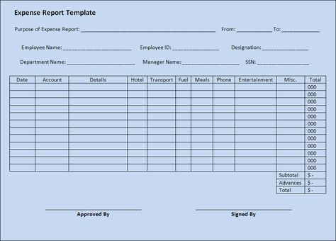 An expense report is usually prepared to help businesses - detailed expense report template