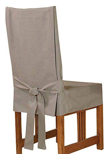 Sure Fit Duck Solid Shorty Dining Room Chair Slipcover Linen Sf21084 Dining Room Chair Slipcovers Slipcovers For Chairs Dining Room Chairs