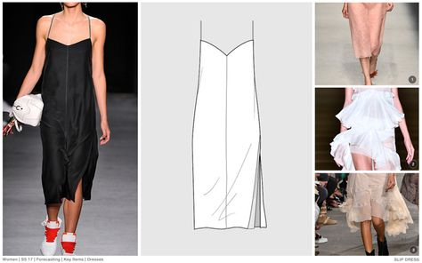 #FashionSnoops SS17 women's key styles and sketches on #WeConnectFashion: Dresses - Slip Dress, image 1