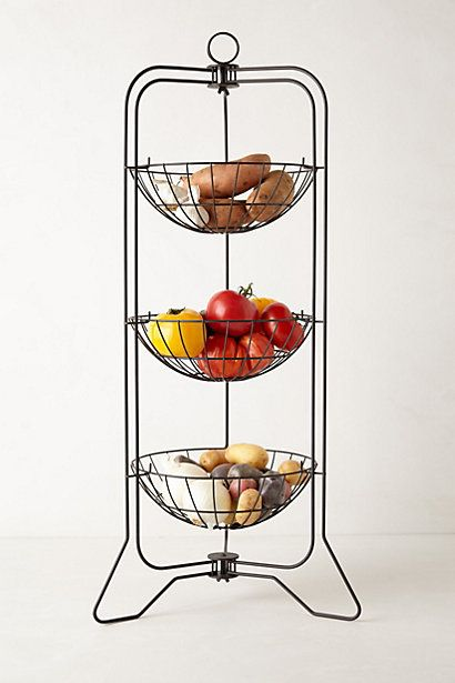 Curved Trio Basket Stand #anthropologie