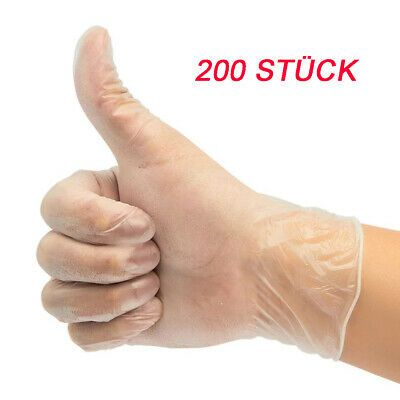 Details Zu 200 St Einmalhandschuhe Einweghandschuhe Schutz
