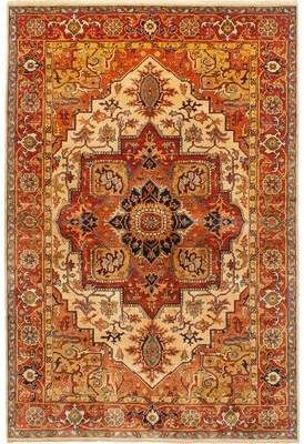 Isabelline Akens Hand Knotted Wool Orange Beige Area Rug Isabelline Area Rugs Rugs Pink Area Rug