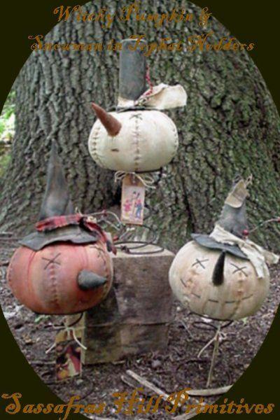 Pumpkin and Snowman Nodders SHP $6.00
