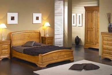 chambre a coucher bois massif
