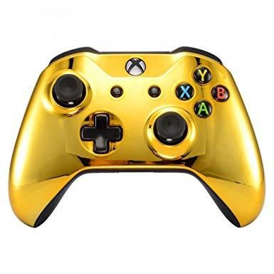 Chrome Gold Edition Front Housing Shell Face Plate For Xbox One S For Xbox One X Controller Xbox One Controller Xbox One Xbox