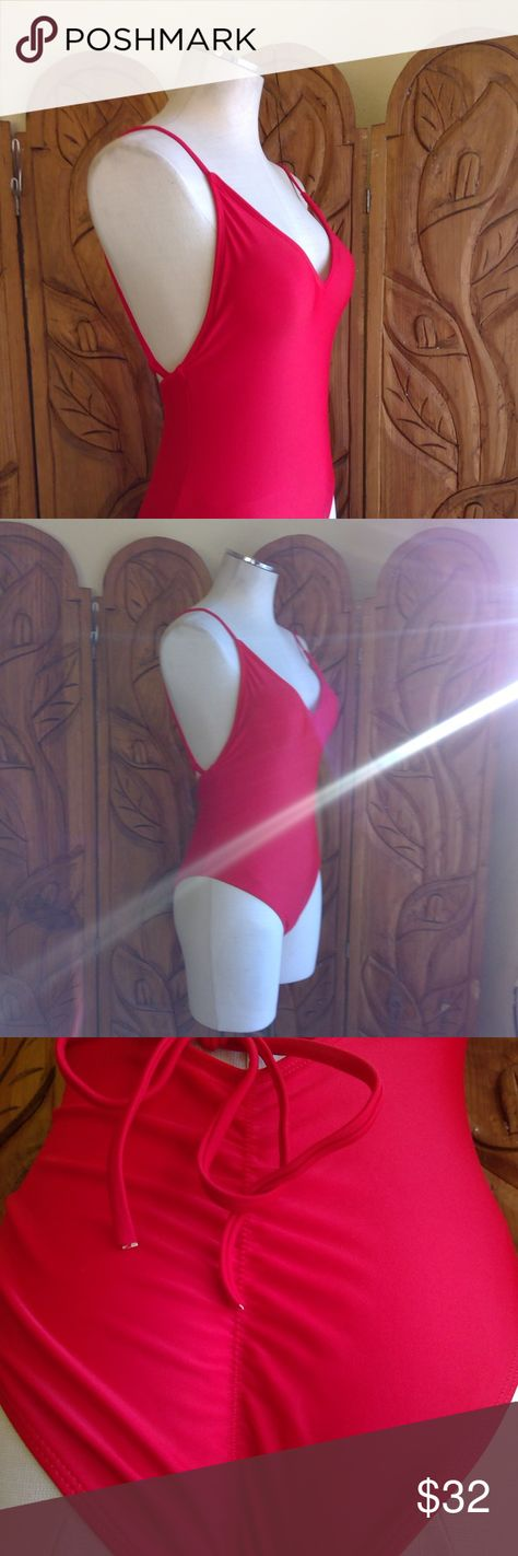 6513b91290370 Baywatch Remastered (Ruched) Red Swimsuit One Piece Never Worn N/A Swim One