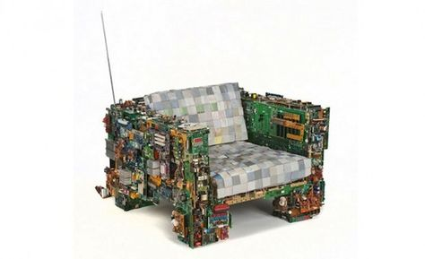 Recycled Goods Upcycling Technology Art Design Roundup Meuble Ordinateur Mobilier Recycle Et Mobilier De Salon