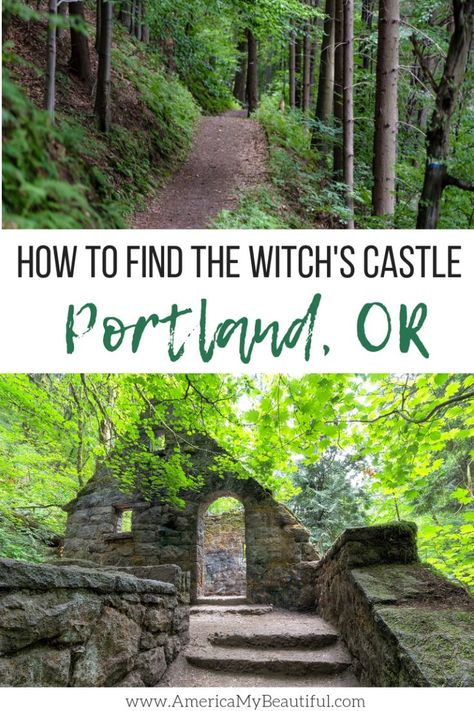 to Find the Witch's Castle in Portland, Oregon Where to go to find one of Portland's spookiest sights!Where to go to find one of Portland's spookiest sights! Oregon Vacation, Oregon Road Trip, Oregon Travel, Travel Usa, Portland Oregon Hikes, Solo Travel, Vacation Places, Vacation Spots, Oregon Coast Roadtrip