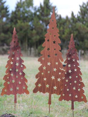 Tanne Weihnachtsbaum 80cm Christbaum Gartenstecker Rost Edelrost Metall Metall Weihnachtsbaum Edelrost Weihnachtsbaum